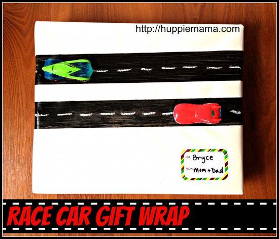 Race Car Gift Wrap