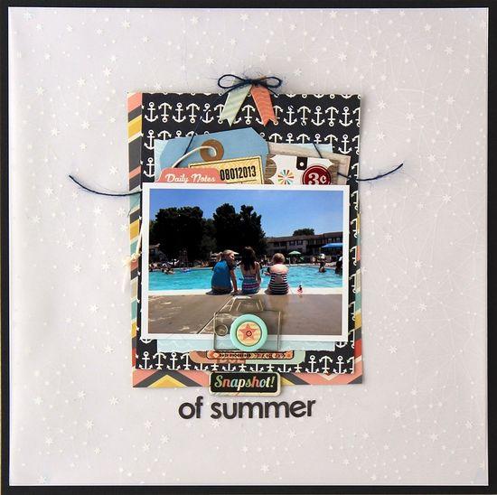 #papercraft #Scrapbook #layout    snapshot of summer *Cocoa Daisy August kit - Scrapbook.com