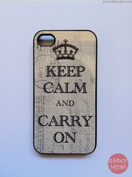 Vintage Keep Calm iPhone 4s Case New Hard Fitted by KeepCalmCaseOn, $15.00