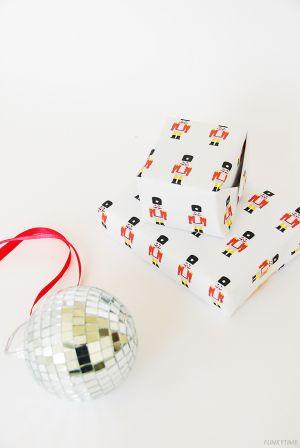 Printable Nutcracker Gift Wrap