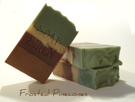FROSTED PINECONES Handmade Soap Soap Siren by thesoapsiren on Etsy, $4.75