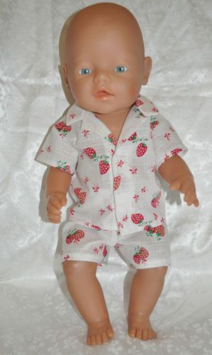 Baby Born doll clothes ~Summer Pj's Strawberries
