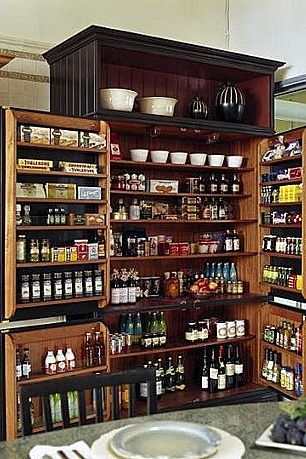 Got to have a well stocked pantry for a new home, and this color scheme goes well with our wine/ bar design pictures