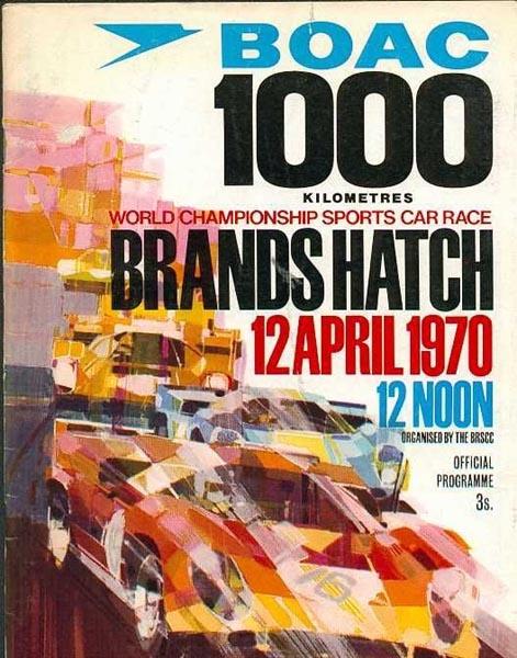 Brands Hatch 1000 Kilometres BOAC 1000 Kilometres World Championship Sports Car Race 12.4.1970