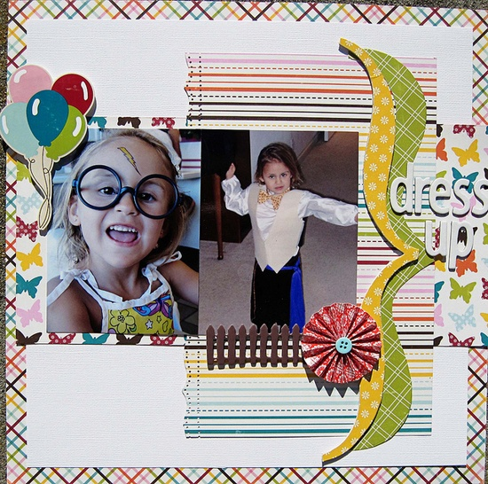 Cute layout #scrapbook #scrapbooking