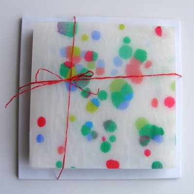 Recycled plastic greeting cards :)