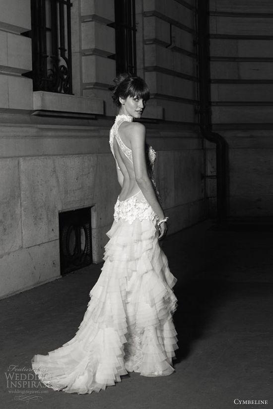 cymbeline wedding dress 2013 gaya open back