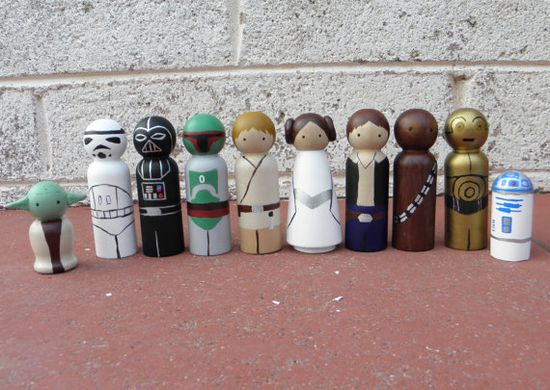 Star Wars peg dolls