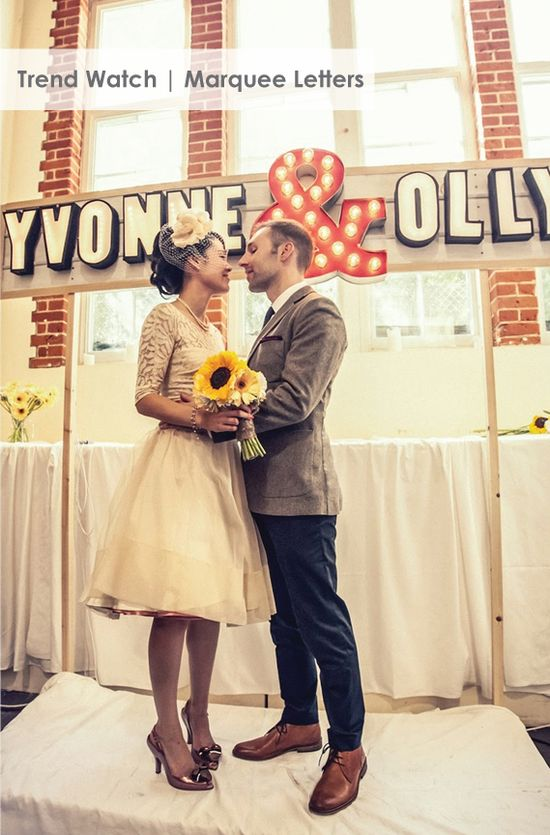 Marquee Letters in weddings and home decor