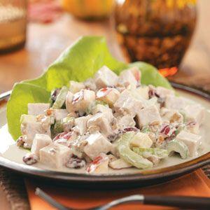 Turkey Waldorf Salad Recipe from Taste of Home -- Shared by Trisha Kruse of Eagle, ID  #turkey  #leftovers