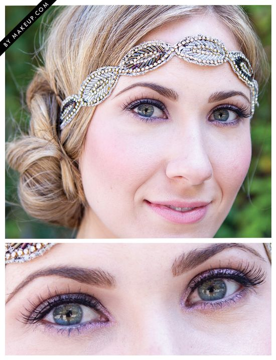 shimmering eye makeup // loving the sparkling headband