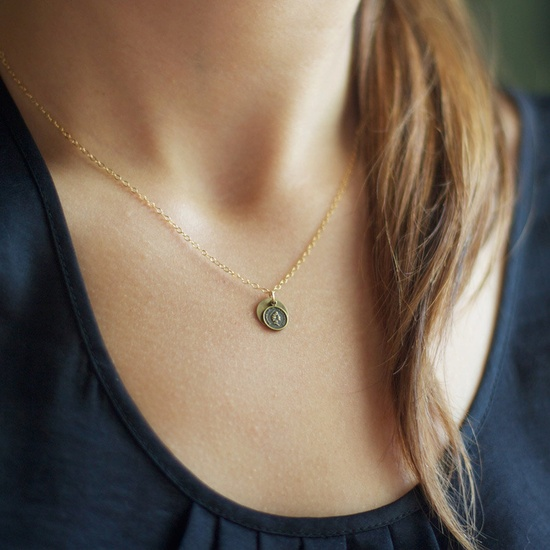 fortune - gold pendant necklace by elephantine. $32,00, via Etsy.