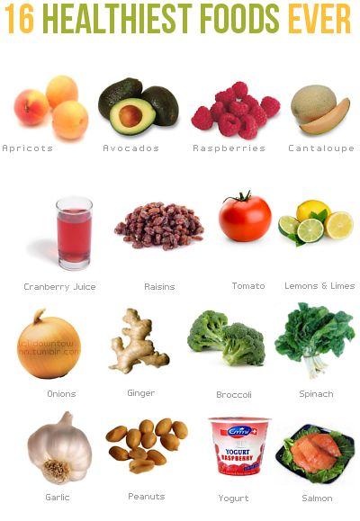 16 Healthy foods
