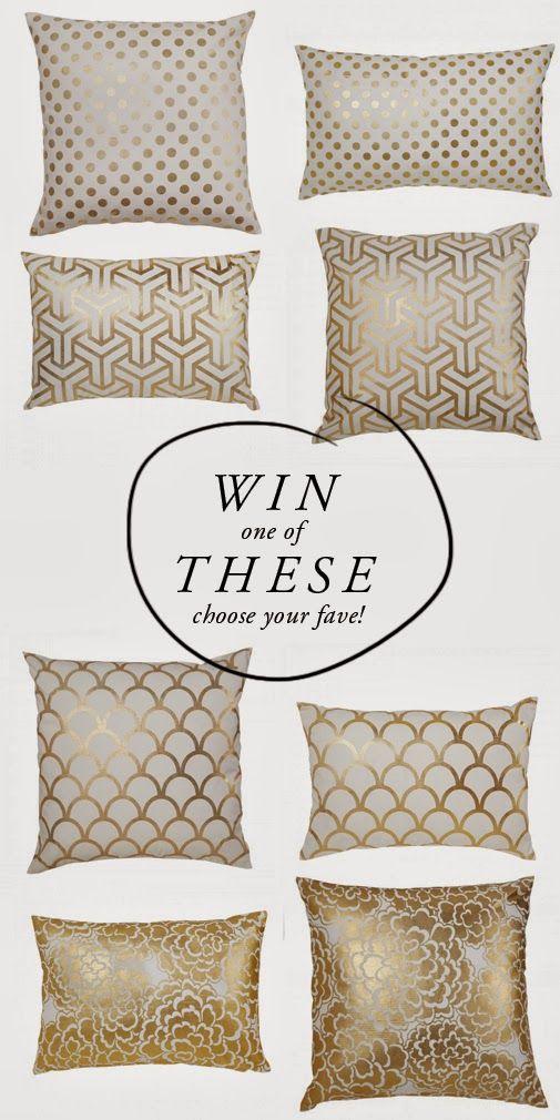 Win throw pillows from Caitlin Wilson Design. @Caitlin Burton Wilson
