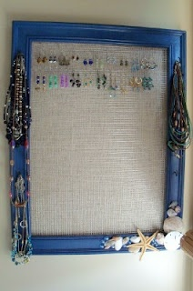 Jewelry holder; cute for a small apartment with no room for a huge jewelry box ;p