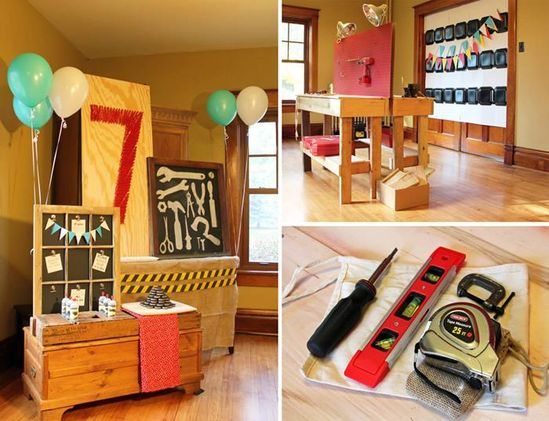 Tool Themed Birthday Party with So Many Great Ideas via Kara's Party Ideas