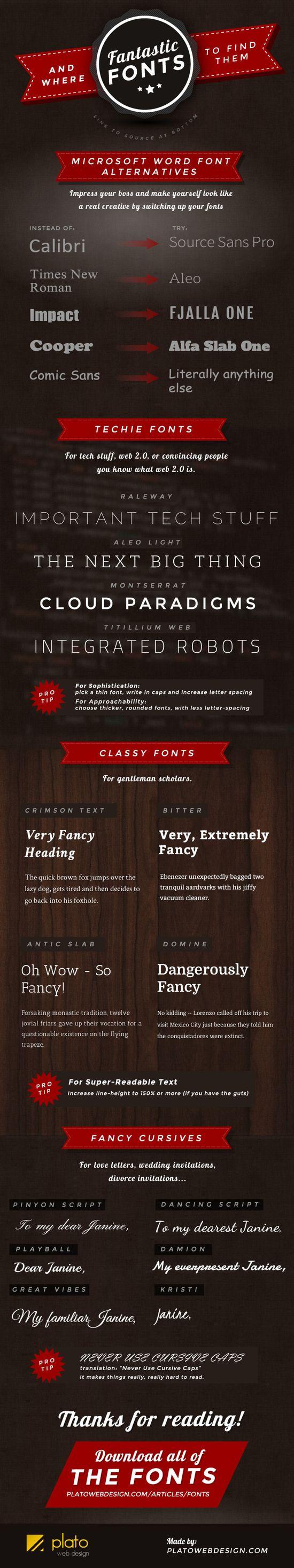 Fantastic #Fonts and