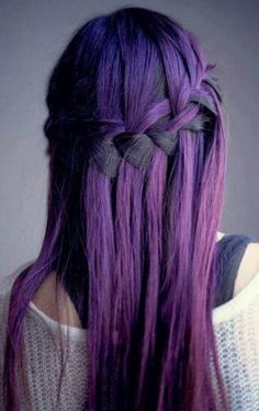 purple #braid #hair #beauty
