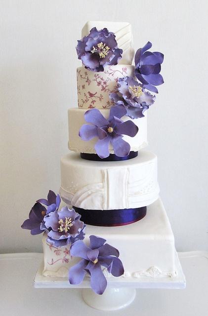 Purple Vera Wang Inspired Wedding Cake