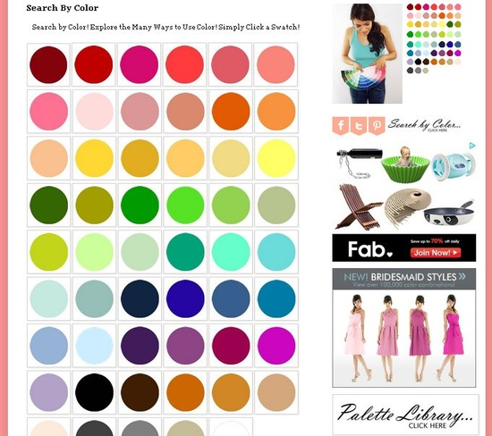 WOW - this is the site for color combo search - Search by Color !!! FUN www.theperfectpal...
