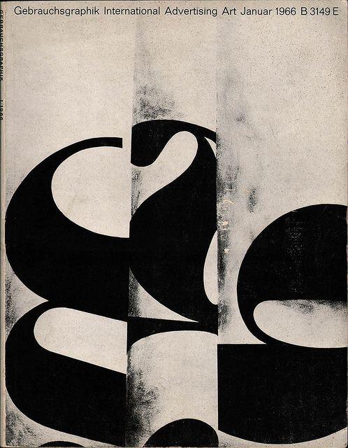 """Gebrauchsgraphik Magazine"" #typography #print #magazine"