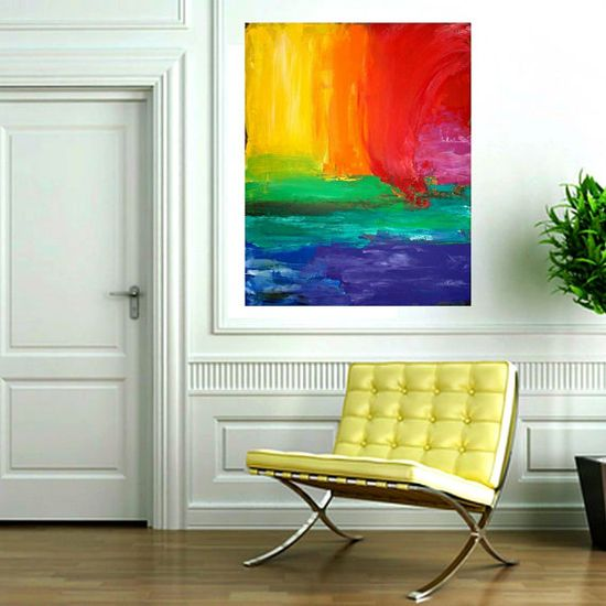 abstract painting acrylic add water for a twist