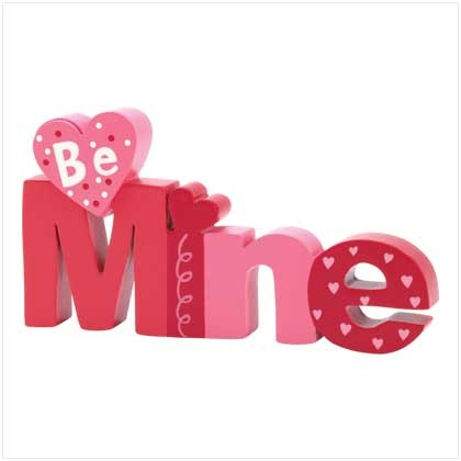 wood letters, valentines craft