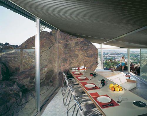 "Frey House II by Albert Frey, 1963; Photo: Julius Shulman, from ""Julius Shulman: Palm Springs"""
