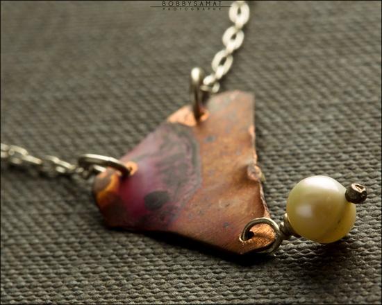 Sterling Silver & Copper Landscape Necklace - Jewelry by Jason Stroud.