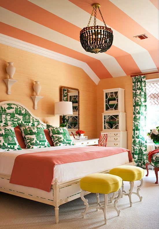 striped ceiling..love!
