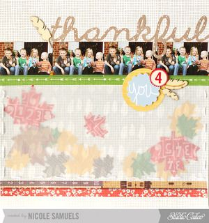 Thankful 4 You *main kit only* by NicoleS at Studio Calico using our SOCK HOP scrapbook kit