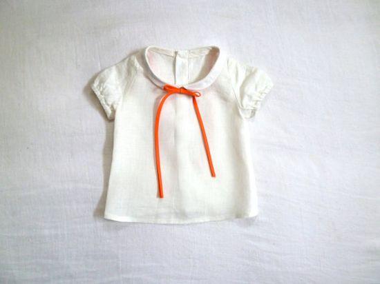 linen blouse with peter pan collar x