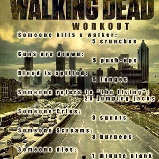 Walking dead work out