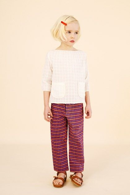 prawle top & hornsea trousers - caramel baby & child