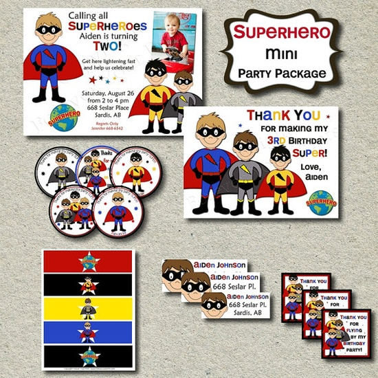 Superhero Birthday Party Package DIY You by ForeverYourPrints, $25.00