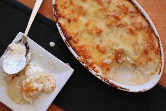 Potato Goat Cheese Gratin for the Thanksgiving win!!