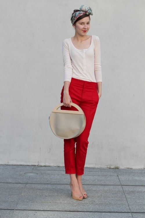 Red pants.  Why not?