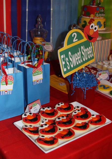 Elmo Sesame Street Party #elmoparty #sesamestreet
