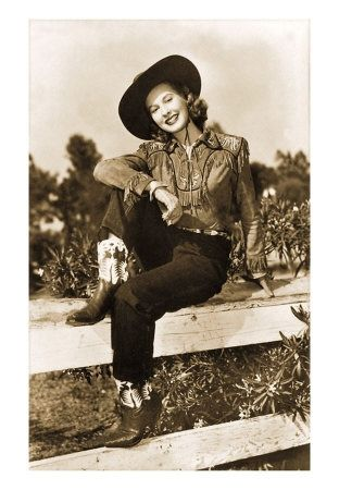 vintage cowgirl!