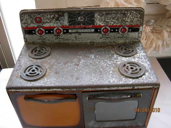 Vintage toy doll stove