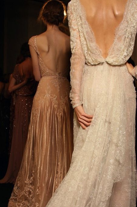 Lace Backless Gown