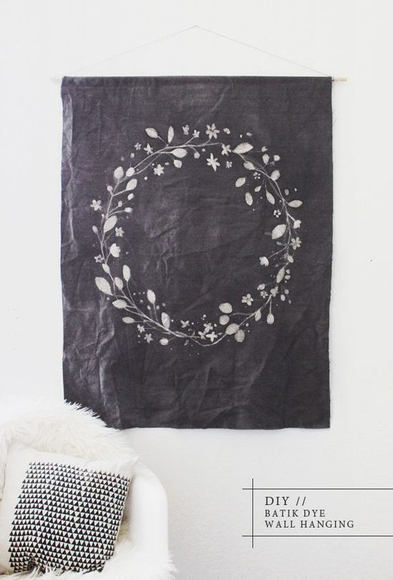 DIY Batik Dye Wall Hanging.
