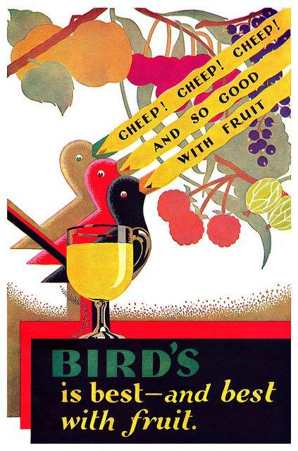 1930 Bird's Custard ad