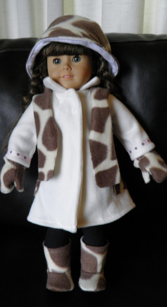 American Girl Doll Clothing Coat Boots by AllAmericanGirlMT, 30.00
