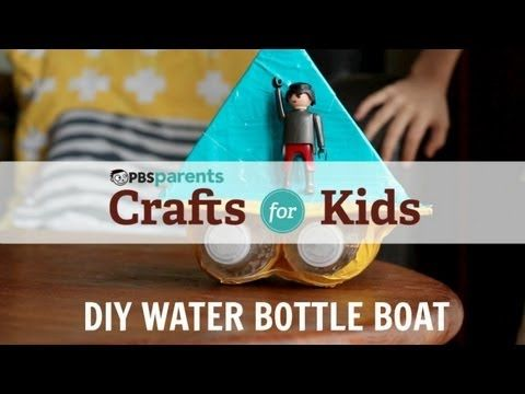 crafts for kids: DIY Water Bottle Boat