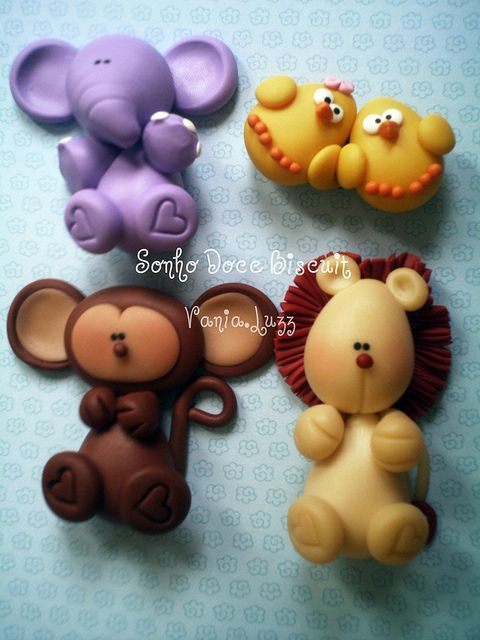 Cute little animals - make them out of fondant or Fimo!