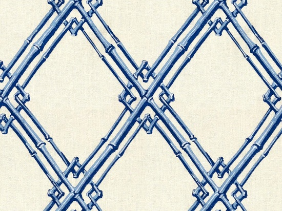 Bamboo Trellis in Blue from Brunschwig & Fils