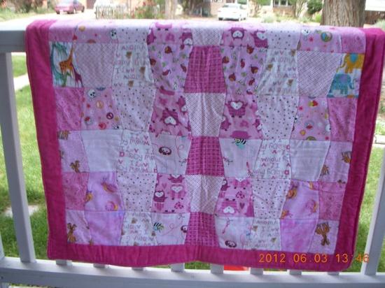 Baby Girls Tumbler quilt by BmnsmomCreations on Etsy, $90.00