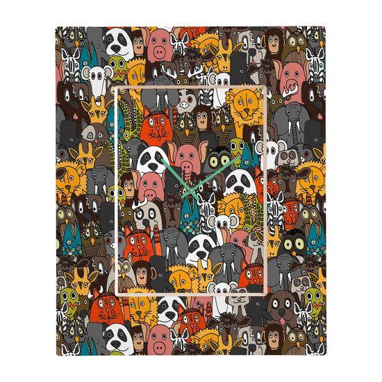 Sharon Turner Plushies Rectangular Clock