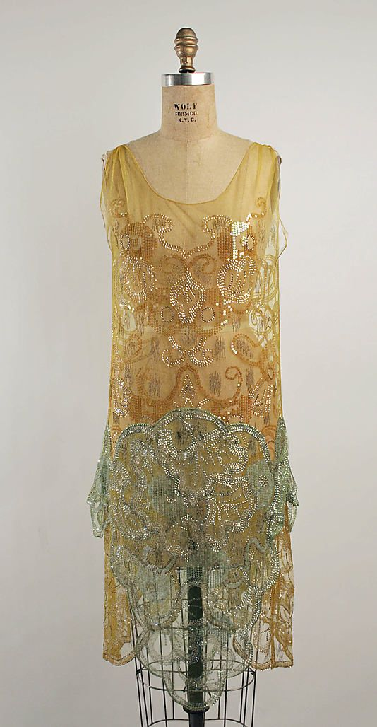 Evening dress, Callot Soeurs, 1924-25.